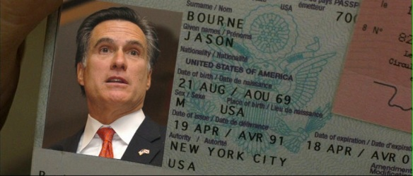 Mitt Romney's passport Jason Bourne
