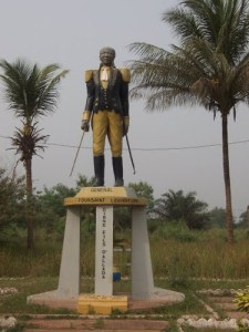 Both man and symbol of the Black Atlantic: Statue of Toussaint L'Ouverture, Allada, Benin