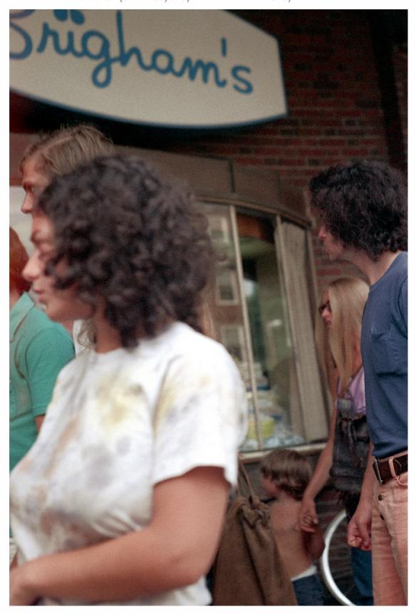 Brigham's, Harvard Square, 1970s: © Nick DeWolf photo archive