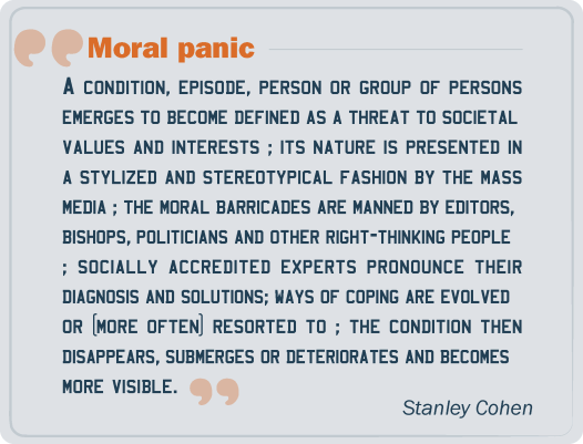 Moral panic: Stanley Cohen's definition (1972)
