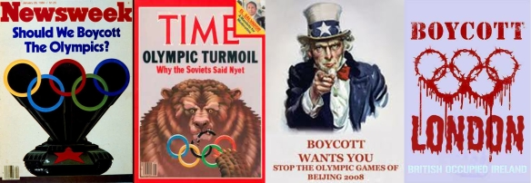 Calls for Olympic boycotts past: 1980, 1984, 2008, 2012