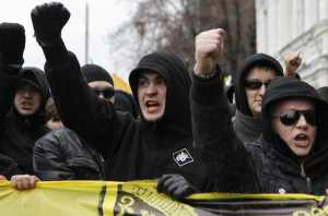 Ultra-rightists march in Moscow to protest Putin and immigration, November 2012: @Reuters