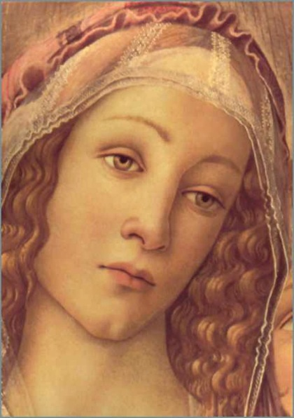 Sandro Botticelli, Madonna of the Pomegranate, ca. 1487, detail