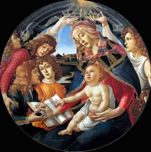 Sandro Botticelli, Madonna of the Magnificat, ca. 1481