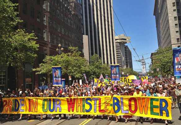 Vindicating the honor of the tribe: A huge Bradley Manning continent marches in San Francisco Pride, June 30, 2013