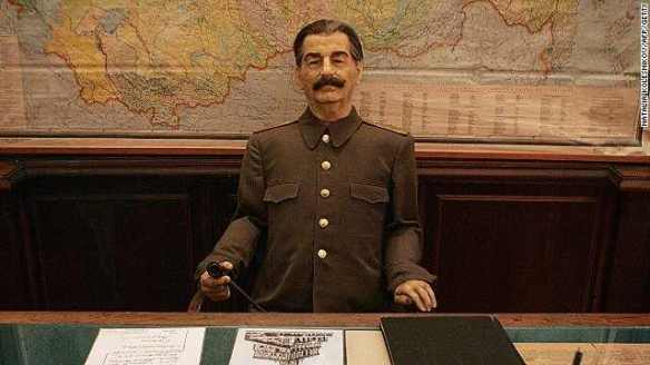 This town's not big enough for Johnny Weir and me: Life-size wax figure of Stalin sits in his former dacha in Sochi