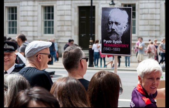 Hero of the Homintern: Tchaikovsky worship at London anti-Russia protest, August 2013 (http-/www.flickr.com/photos/zefrog/9479752671/in/set-72157635017804350)