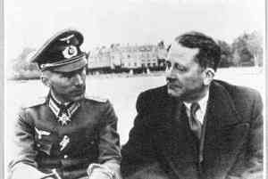 I can make an exception for you, soldier: Carl Schmitt (R) with Ernst Junger in occupied Paris, 1943