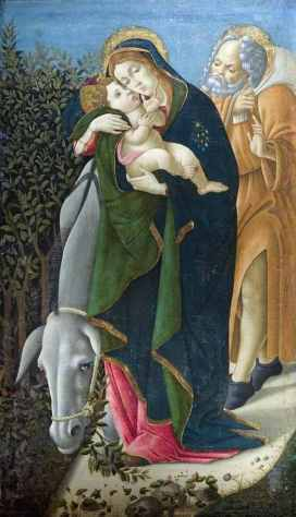 Sandro Botticelli, The Flight into Egypt, ca. 1495-1500