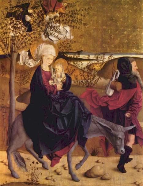 Meister von Mondsee (the Mondsee Master), The Flight into Egypt, ca. 1487
