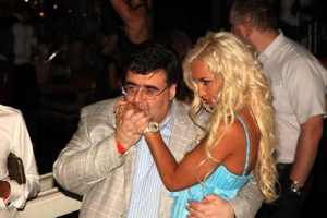 White nights: Mitrofanov clubbing with TV hostess Olga Buzova, 2011