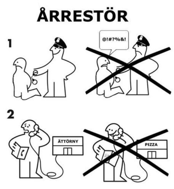 In event of arrest: IKEA instructions