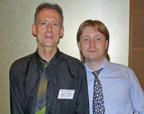 Tatchell and Alekseev, Moscow Pride, 2007