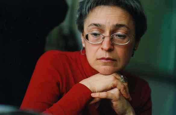 Anna Politkovskaya, journalist, murdered in Moscow, 2006