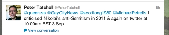 Tatchell tweet on Alekseev copy