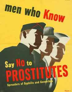 With a little help from the law: Anti-prostitution poster from World War II