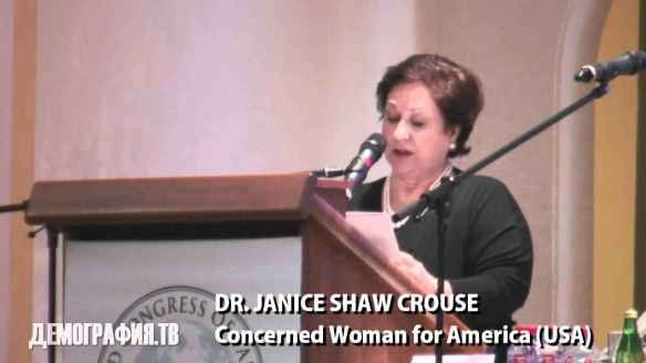 Look, Ma, I made it to the Kremlin: Janice Shaw Crouse of Concerned Women for America speaks at Moscow Summit