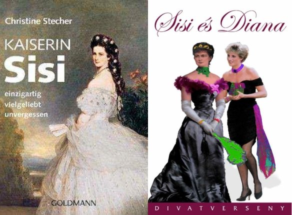 "The General's got charisma: L, German book cover ( ""Unique, Beloved, Unforgotten""); R, Hungarian fashion show (with Princess Di)"