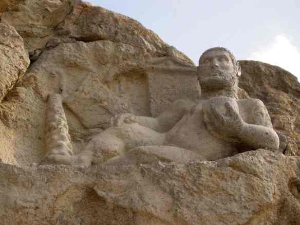 2nd century BCE rock carving of Bahram, Zoroastrian god of strength, outside Kermanshah