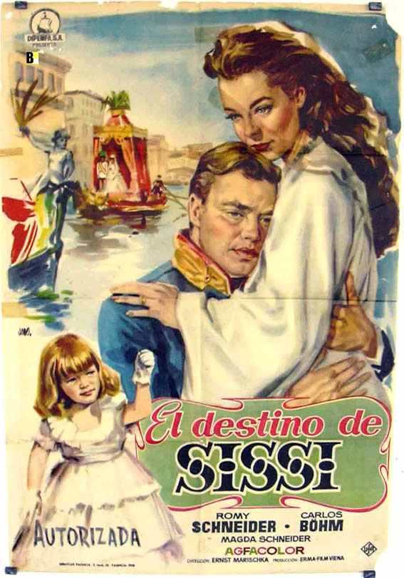 The General is a man of destiny: Sisi (R, played by Romy Schneider) comforts the nation in its hour of distress