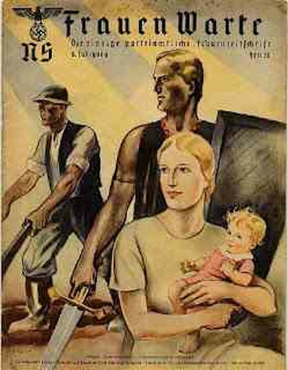 Good motherhood; Cover from Frauen Warte, Nazi women's magazine, 1937