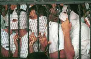 Defendants in the Queen Boat case during their 2001 trial