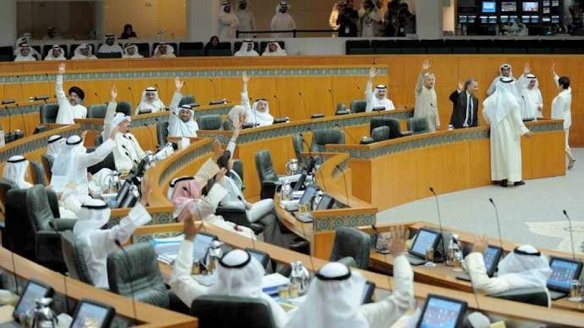 Raise your hand if you're a manly man: Session of Kuwait's National Assembly