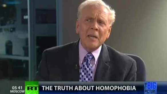 Is that Kirchick over in the corner? Take off those rainbow suspenders, boy! Paul Cameron on Russia Today, 2012