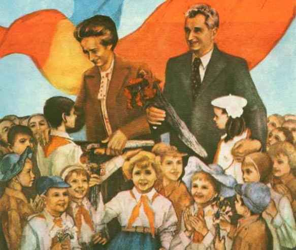 All my children, II: Elena and Nicolae Ceauşescu playing parents of the nation