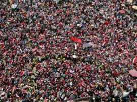 Bodies indisciplined: Anti-Morsi protesters fill Midan Tahrir, June 30