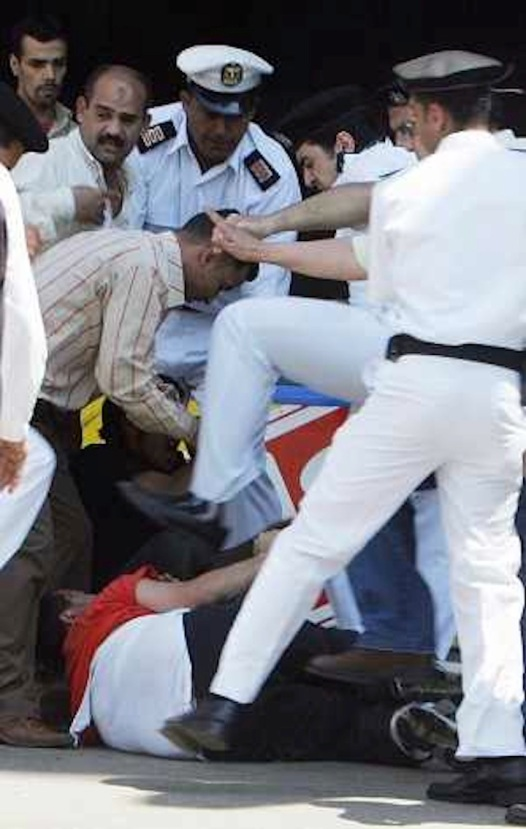 Being a man: Egyptian police assault protester, May 2006