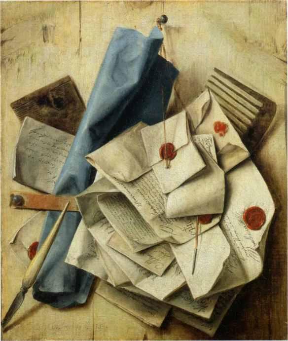 Cartas selladas: Quodlibet, de Cornelis Norbertus Gysbrechts, 1665