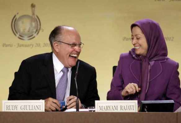 Please keep laughing until I pay you to stop: Handsomely reimbursed Rudy Giuliani engages in horseplay with MeK cult leader Maryam Rajavi (see http://www.ibtimes.com/mek-only-way-stop-iran-giuliani-214368)
