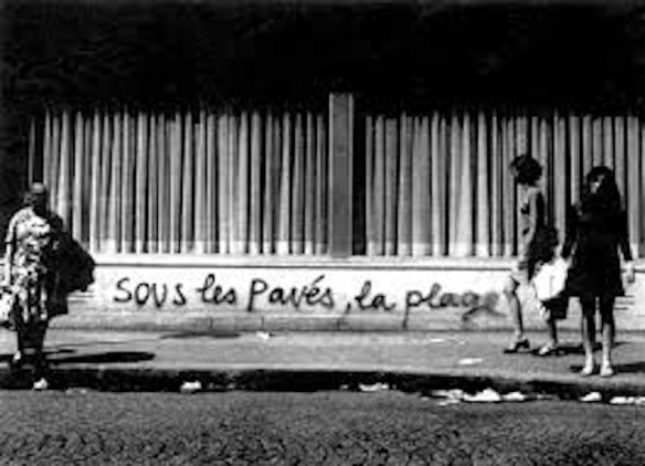 Situationist graffiti, Paris, 1968