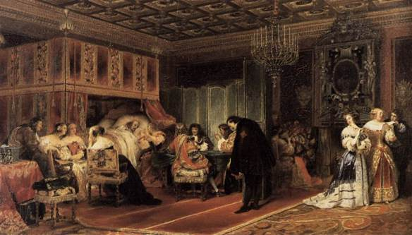 The rich die well, but they still die: Paul Delaroche, Cardinal Mazarin's Last Sickness, 1830