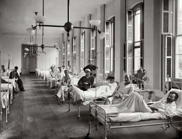 Brooklyn Navy Yard hospital ward, ca. 1900