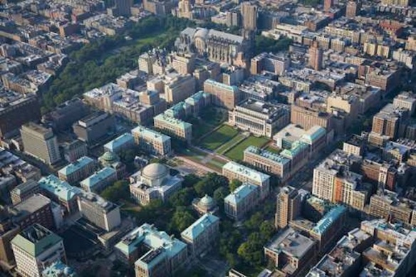 Someday, son, all this will be yours, plus most of the surrounding neighborhoods: Aerial view of Columbia's main campus