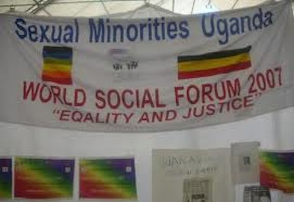 SMUG banner at the World Social Forum, Nairobi, Kenya, 2007