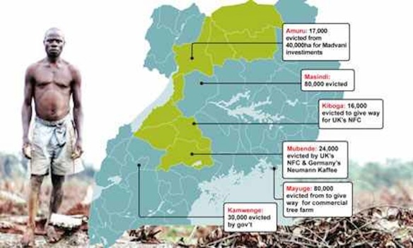 Recent land grabs in Uganda, 2012: From http://farmlandgrab.org/post/view/20457-museveni-angry-over-ngo-report-on-land-grabbing