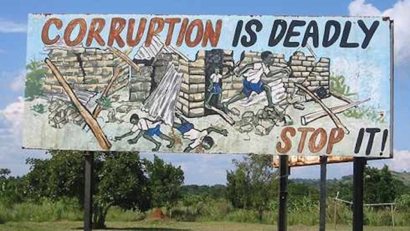 Ugandan billboard against corruption