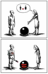 Women's equality: Cartoon by Mana Neyestani (apologies, of course, to the Human Rights Campaign)