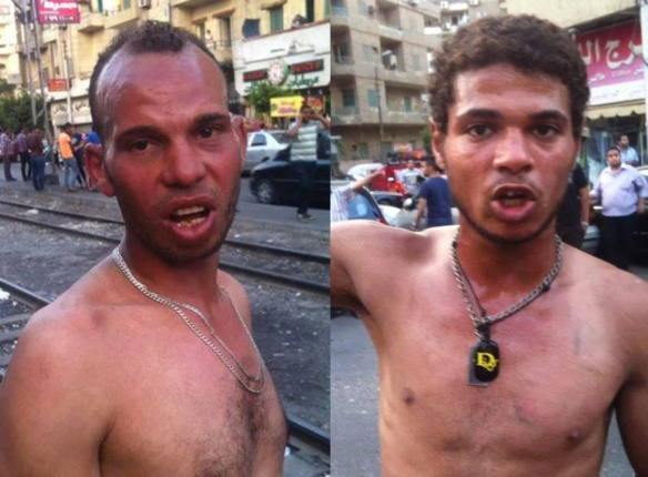 Photographs reportedly showing two of the baltageya who attacked the June 21 march