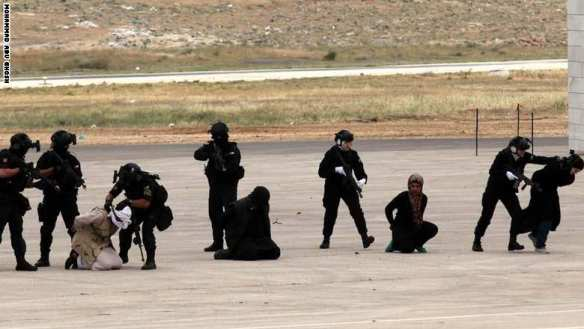 """The sequel: """"Counterterrorist special forces"""" capture """"jihadists"""" at the SOFEX show in Amman"""