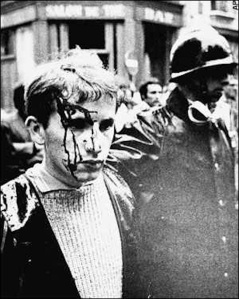 Student protester beaten and arrested by police, Paris, May 1968
