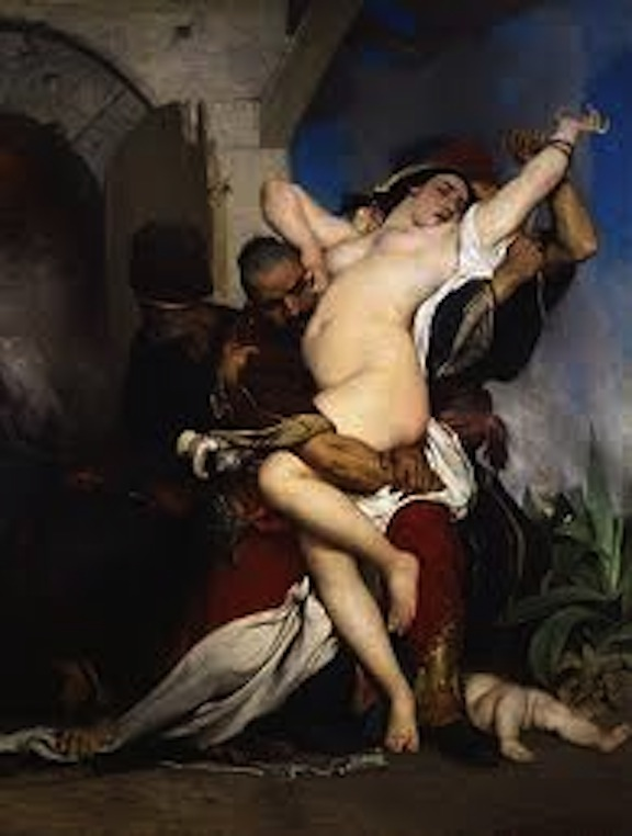 White slavery: Jaroslav Čermák, Abduction of a Herzegovenian Woman, 1861
