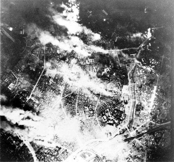 Tokyo burns under B-29 firebomb assault, May 26, 1945