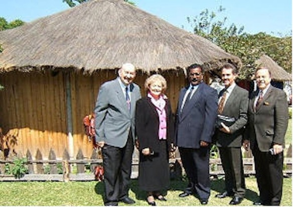 "Tony and Marge Abram, of Abundant Life Ministries (L, need I say) in Zambia in 2005: http://www.abundantlifecrusades.com/. Their story, linking prayer and white supremacy, is typical: ""In 1966, when Marge and I drove through what was once Southern Rhodesia and elephant country in our old Volkswagen beetle, to the most beautiful falls in the world, we could look across the falls and see Zambia.  I told Marge then, that one-day we would preach there and God would give us many souls."""