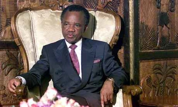 Zambia's President Chiluba: in the big chair