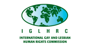 IGLHRC logo, 1998: Enervated by Western modernity, those continents are eating each other alive