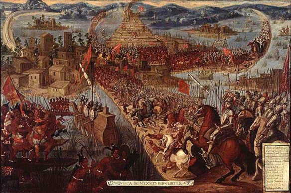 Cortés attacks Tenochtitlan: Anonymous, Second half of the seventeenth century, Library of Congress